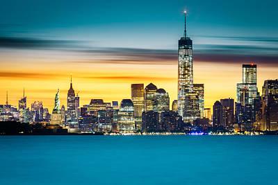 Photograph - Sunrise Over New York City by Mihai Andritoiu