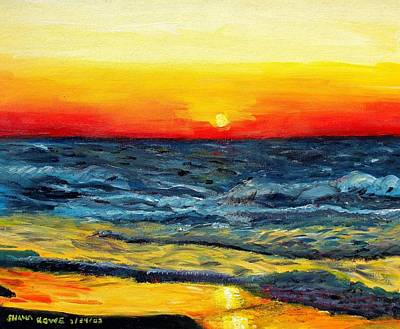 Art Print featuring the painting Sunrise Over Paradise by Shana Rowe Jackson