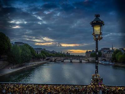 Sunrise Over Paris Art Print by Mark Llewellyn