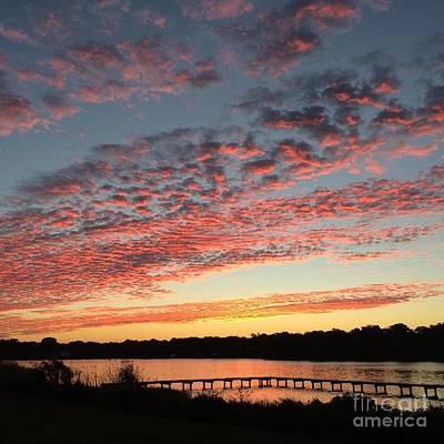Sunrise Over Pensacola Florida Art Print