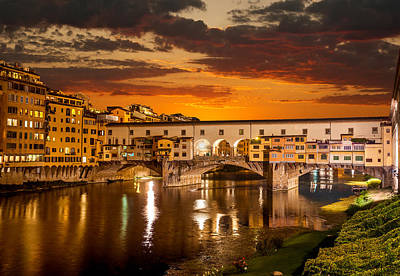 Photograph - Sunrise Over Ponte Vecchio by Gurgen Bakhshetsyan