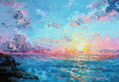 Marie Green Painting - Sunrise Over Redlands by Marie Green