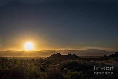 Art Print featuring the photograph Sunrise Over Rock Knob by Marianne Jensen