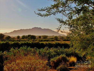 Country Scene Photograph - Sunrise Over San Tan by Marilyn Smith
