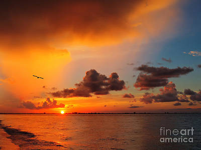Photograph - Sunrise Over Sanibel Island by Jeff Breiman