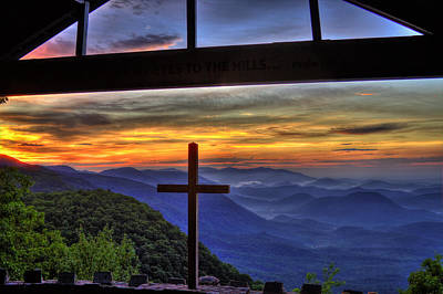 Sunrise Over Sc From Nc Art Print by Reid Callaway