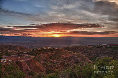 Photograph - Sunrise Over Sedona With The Jerome State Park by Ron Chilston