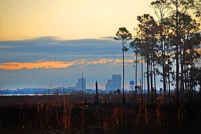Pier Digital Art - Sunrise Over Shelby Lake Bayou by Michael Thomas