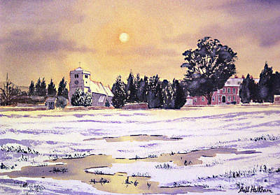 St Botolph St Painting - Sunrise Over St Botolph's Church by Bill Holkham
