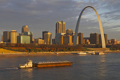 Photograph - Sunrise Over St Louis by Garry McMichael
