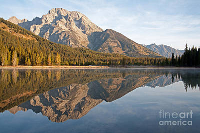 Photograph - Sunrise Over String Lake Grand Teton National Park by Fred Stearns