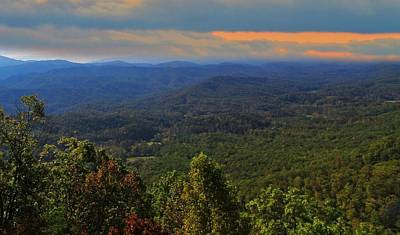 Sunrise Over The Appalachian Mountains Print by Dan Sproul