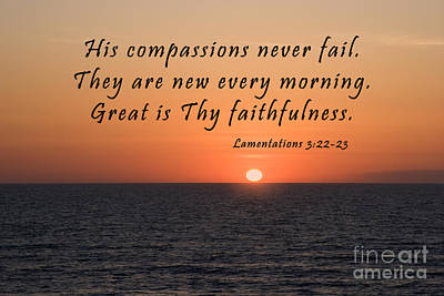 Photograph - Sunrise Over The Atlantic With Scripture by Jill Lang