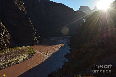 Photograph - Sunrise Over The Colorado River Along Bright Angel Trail Grand Canyon National Park by Shawn O'Brien