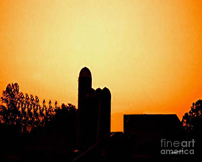 Sunrise Over The Farm Art Print by Timothy Clinch