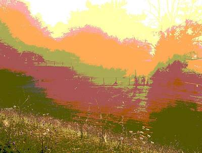 Sunrise Over The Field Art Print by Dan Sproul