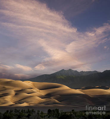 Sunrise Over The Great Sand Dunes Print by Keith Kapple
