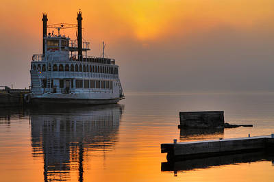 Photograph - Sunrise Over The Island Princess by Jim Vance