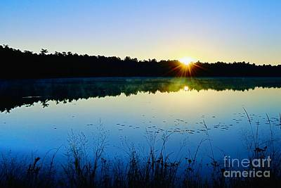 Photograph - Sunrise Over The Lake by Sharon Woerner