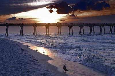 Photograph - Sunrise Over The Pier by Renee Hardison