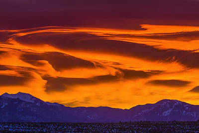 Royalty Free Images Photograph - Sunrise Over The Sangre De Cristo by Michael DeYoung