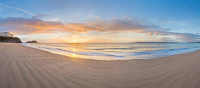 Tenby Photograph - Sunrise Over The Sea, Tenby by Panoramic Images