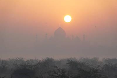 Sunrise Over The Taj Art Print