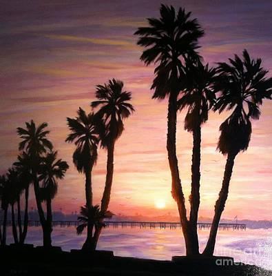 Sunrise Over The Ventura Pier Art Print by Tina Obrien