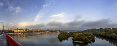 Too Cute For Words - Sunrise over Warsaw and Vistula Panorama by Julis Simo