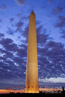 Photograph - Sunrise Over Washington Monument by Brian Jannsen