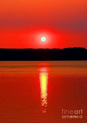 Sunrise Over Whidbey Island Art Print