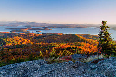 Photograph - Sunrise Over Winnipesaukee. by Jeff Sinon