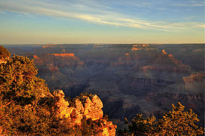 Photograph - Sunrise Over Yaki Point At The Grand Canyon by Alan Vance Ley