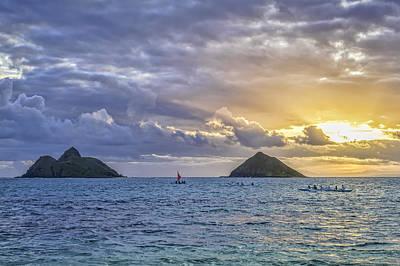 Photograph - Sunrise Paddle Out by Dan McManus