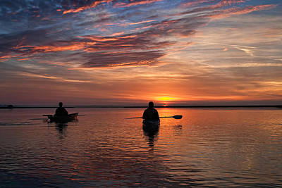 Photograph - Sunrise Paddle by Scott Hansen