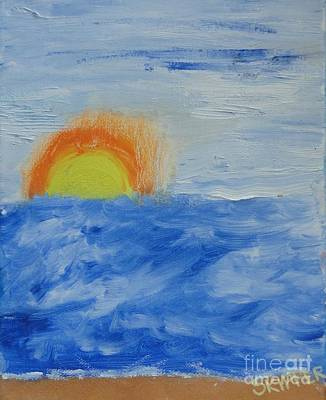 Art Print featuring the painting Sunrise by PainterArtist FINs daughter
