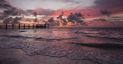 Dock Photograph - Sunrise Panoramic by Adam Romanowicz