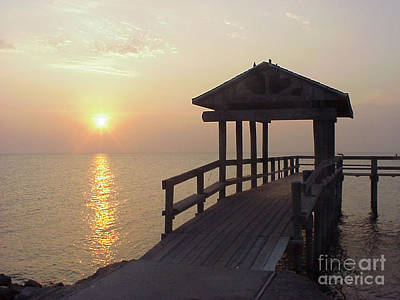 Photograph - Sunrise Pier 1 by D Wallace