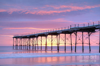 Sunrise Pier Art Print by Colin and Linda McKie