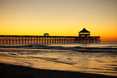 Photograph - Sunrise Pier Folly Beach Sc by E Karl Braun