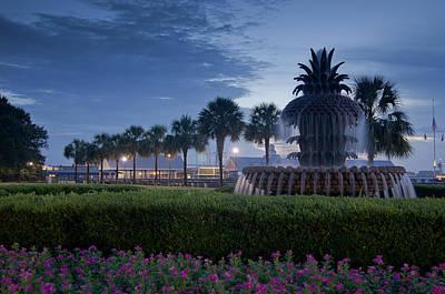 Photograph - Sunrise Pineapple Fountain by E Karl Braun