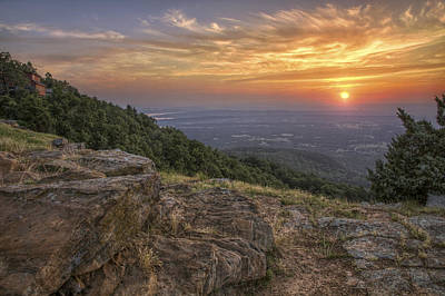 Art Print featuring the photograph Sunrise Point From Mt. Nebo - Arkansas by Jason Politte
