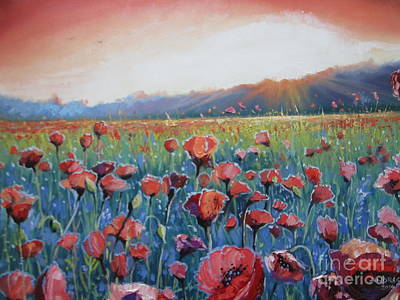 Painting - Sunrise Poppies by Andrei Attila Mezei