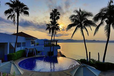Sunrise, Punta Serena Villas And Spa Print by Douglas Peebles