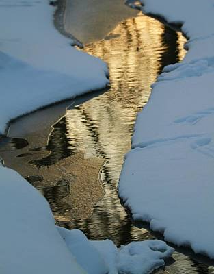 Photograph - Sunrise Reflection Winter River by Dan Sproul