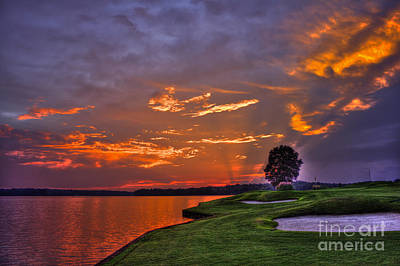 Photograph - Sunset Reflections On Lake Oconee by Reid Callaway