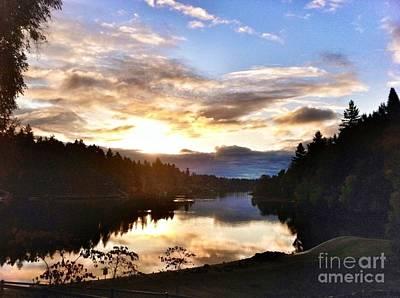Photograph - Sunrise River Mirror by Susan Garren