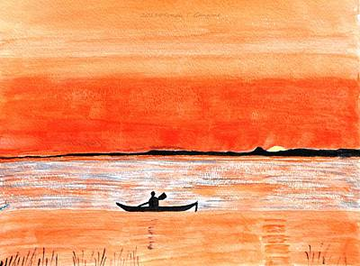 Sun Rays Painting - Sunrise Sail by Sonali Gangane