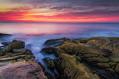 Narragansett Photograph - Sunrise Seascape by Bryan Bzdula