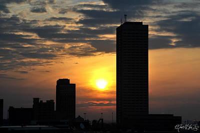 Sunrise Silhouette Buffalo Ny V2 Art Print